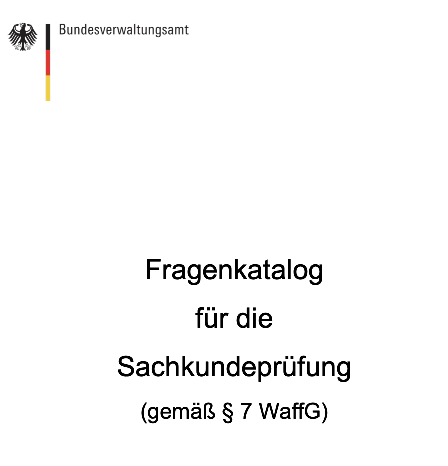 Waffensachkunde - Neuer Fragenkatalog (gilt ab 15.09.2020) 1