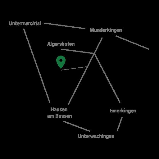 Schematische Anfahrtskarte zum Schützenhaus