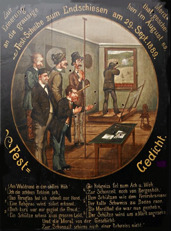 Bild einer Festscheibe aus dem Jahr 1889