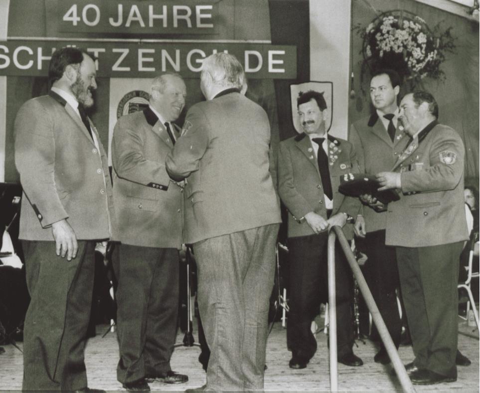 Die 40 Jahrfeier des Schützenverein Munderkingen